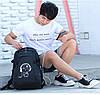 Городской рюкзак Senkey&Style Music с USB светящийся в темноте с скрытым карманом на спине с кодовым замком, фото 2