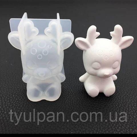 3D Форма силиконовая молд олененок  молд для мыла шоколада мастики свечей