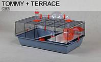Клетка TOMMY+терраса, 78x48x44 new