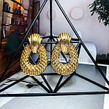 """Серьги """"Golden pineapple"""", 1 пара, фото 2"""