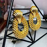 """Серьги """"Golden pineapple"""", 1 пара, фото 3"""
