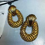 """Серьги """"Golden pineapple"""", 1 пара, фото 5"""