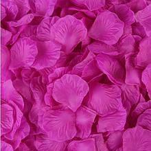 Искусственные лепестки роз сиреневые - в наборе 100шт., размер одного лепестка 5*5см, ткань