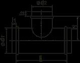 Тройник оцинкованный 80х80х80 /90 ВК, фото 2