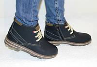Кожаные женские-подростковые ботинки HILL FIGER