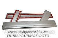Защита порогов - накладки на пороги Hyundai Kona (Premium)