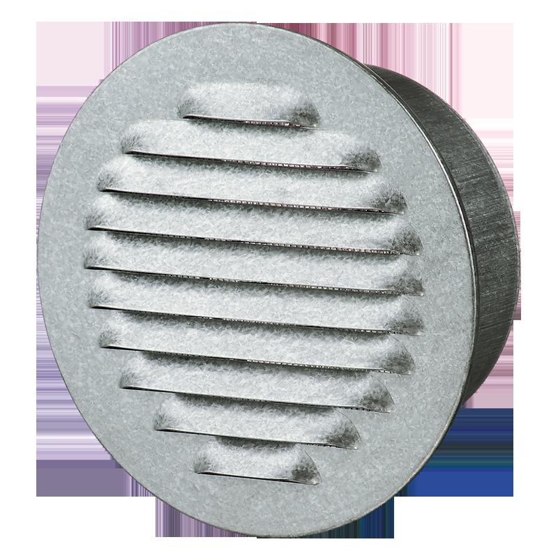 Решетка вентиляционная МВМО 100 бВс Ц металлическая круглая