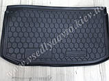 Коврик в багажник NISSAN Micra с 2013 г. (AVTO-GUMM) пластик+резина, фото 3