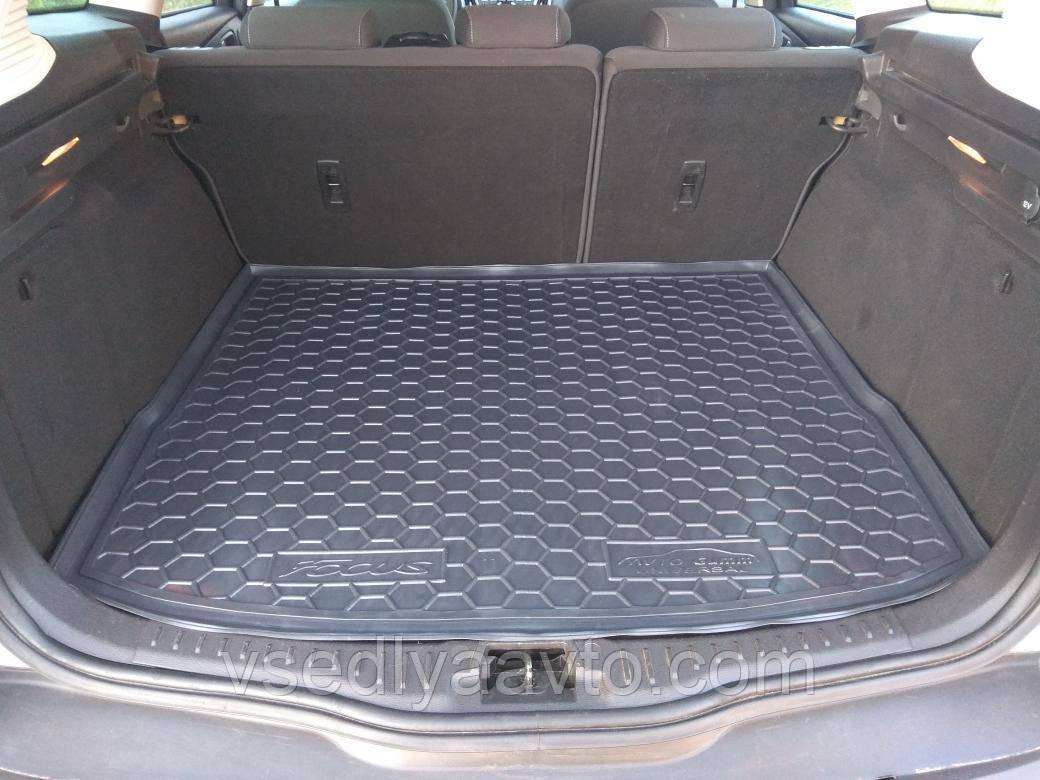 Коврик в багажник FORD Focus с 2011 г. универсал  (AVTO-GUMM) пластик+резина