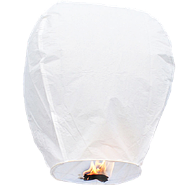 Небесные фонарики купола, высота фонарика: 85 см., цвет: белый
