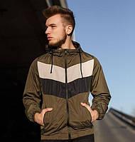 Куртка мужская ветровка с капюшоном весна-осень хаки.Vidlik Турция. Живое фото. Чоловіча куртка, фото 1