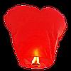 Небесный фонарик Сердце, высота фонарика: 85 сантиметров, цвет: красный