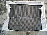 Коврик в багажник Volkswagen Caddy Life с обшивкой (2004-2015) (AVTO-GUMM) пластик+резина, фото 6