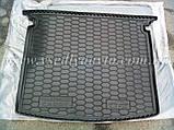 Коврик в багажник Volkswagen Caddy Life с обшивкой (2004-2015) (AVTO-GUMM) пластик+резина, фото 7