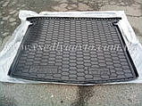 Коврик в багажник Volkswagen Caddy Life с обшивкой (2004-2015) (AVTO-GUMM) пластик+резина, фото 8