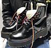 Женские зимние ботинки Dr. Martens JADON Rainbow с МЕХОМ 36-40р. Реальное фото. Топ реплика