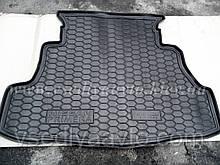 Коврик в багажник NISSAN Primera (P12) седан (Avto-gumm) Пластик+резина