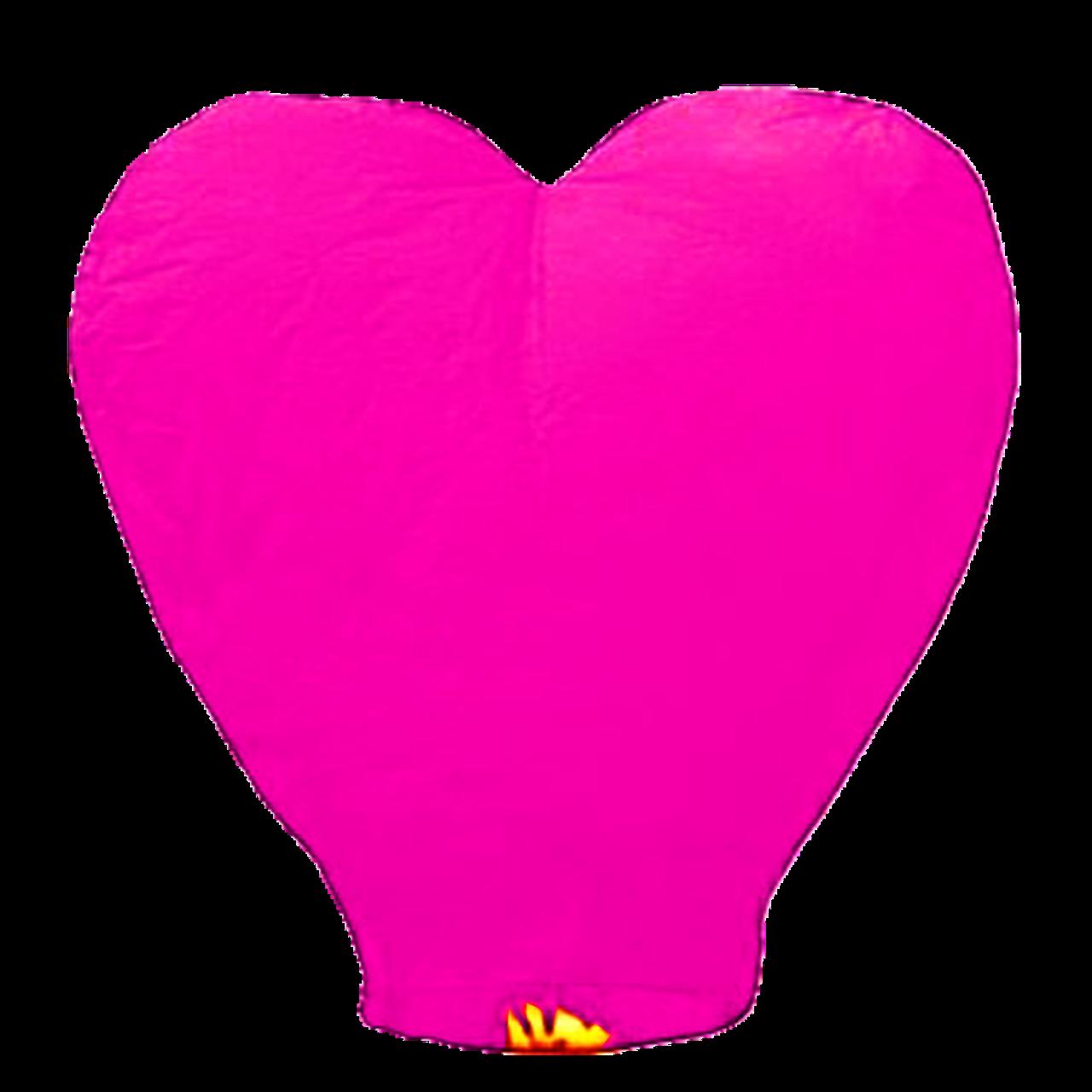 Небесний ліхтарик Серце, висота ліхтарика: 85 см., колір: рожевий