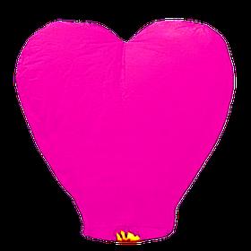 Небесный фонарик Сердце, высота фонарика: 85 см., цвет: розовый