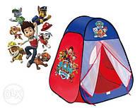 Детская палатка Щенячий Патруль 817 в сумке 90*80*80 см