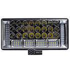 Фара LED прямоугольная 204W 6000K (68 диодов) (22.5см х 10.5см х 3см) (ближний + дальний) ОБЛЕГЧЕННЫЙ КОРПУС!, фото 2