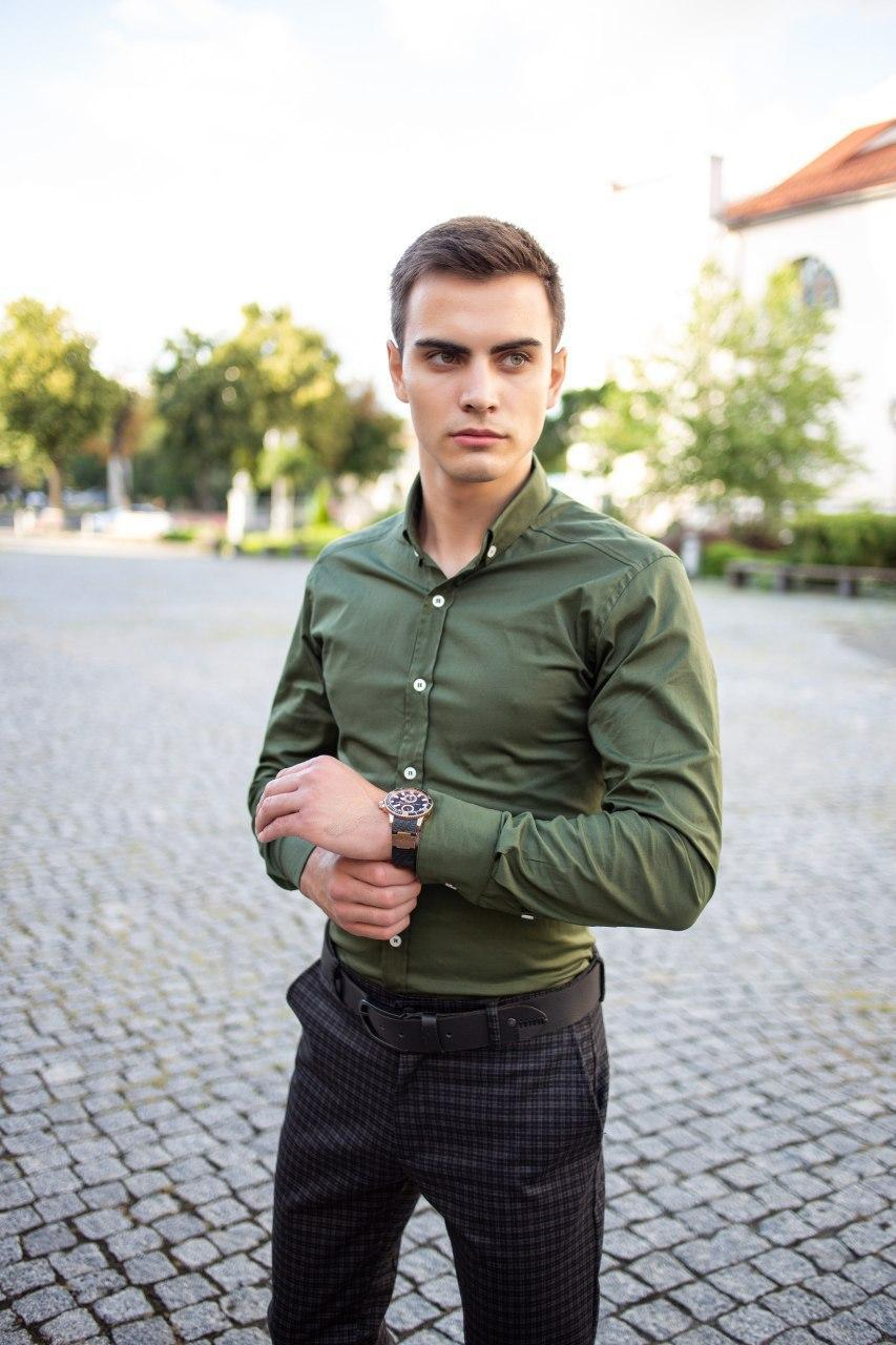 "🔥 Рубашка сорочка мужская Pobedov ""Orel"" хаки"