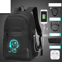 Рюкзак Senkey & Style черный Music с USB