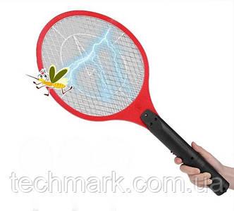 Электрическая мухобойка аккумуляторная Rechargeable Mosquito-hitting Swatter (Красный)