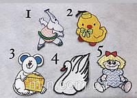 Нашивки на одежду тканевые клеевые детские термо нашивки