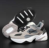 Женские кроссовки Nike M2k tekno серые с черным осень-весна демисезонные 36-40р. Живое фото. Реплика, фото 1