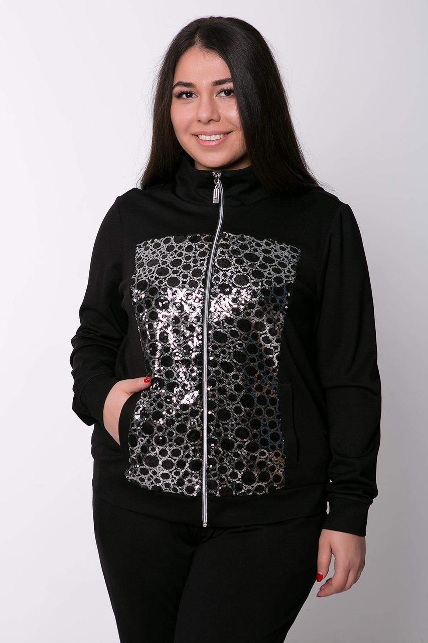 Оригинальный спортивный костюм (серебро) ЭРБИ черный