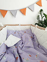"""Комплект постельного белья для ребенка """" Цирковые слоны"""""""