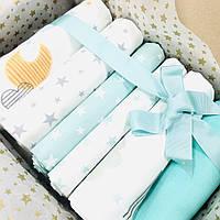 Подарочный набор пеленок Lukoshkino ® нейтральный мята №1