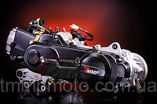 Двигатель для скутера - 80 куб 47мм 139qmb длинный вариатор под 12 колесо два амортизатора, фото 3