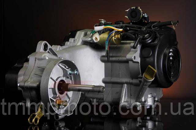 Двигатель для скутера - 80 куб 47мм 139qmb длинный вариатор под 12 колесо два амортизатора