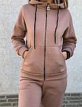 Теплый женский спортивный костюм с капюшоном на змейке 26-806, фото 6