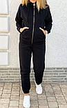 Теплый женский спортивный костюм с капюшоном на змейке 26-806, фото 5