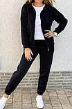 Теплый женский спортивный костюм с капюшоном на змейке 26-806, фото 4