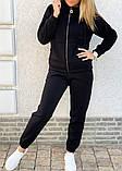 Теплый женский спортивный костюм с капюшоном на змейке 26-806, фото 2