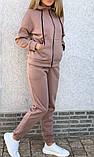 Теплый женский спортивный костюм с капюшоном на змейке 26-806, фото 3