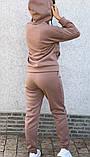 Теплый женский спортивный костюм с капюшоном на змейке 26-806, фото 9
