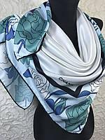 Турецкий брендовый белый платок с розами