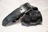 Черный кожаный ремень итальянская кожа