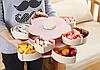 Вращающаяся складная двухъярусная конфетница SUNROZ Flower Candy Box, фото 4
