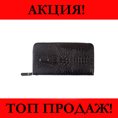 Мужской Клатч ALLIGATOR ZQ850 Черный