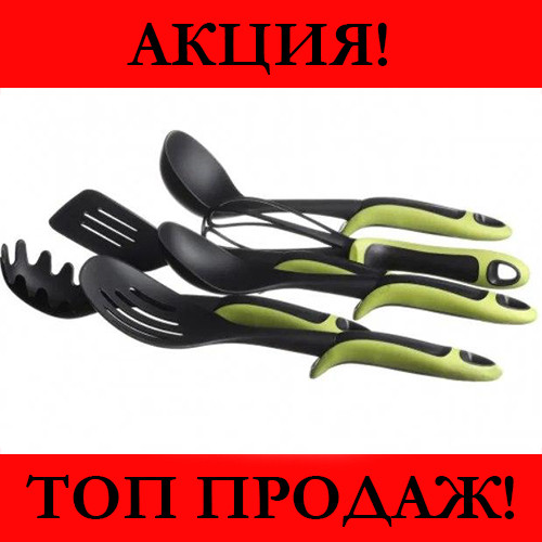 Набор кухонных принадлежностей ЗЕЛЕНЫЙ KITCHEN TOOLS 7 предметов