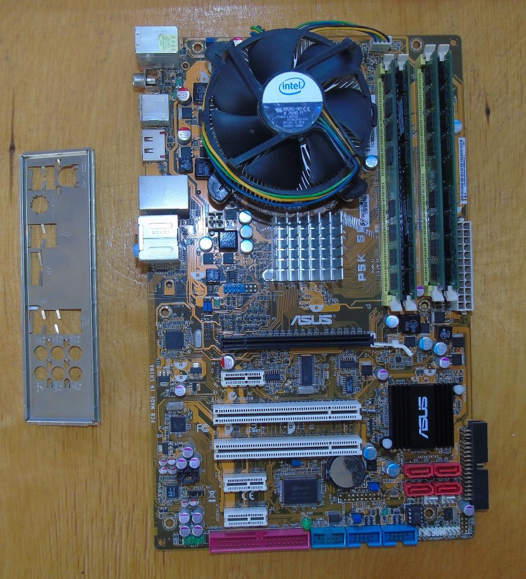 775 Материнская плата Asus P5K SE + процессор Xeon E5440 + 4Gb DDR2 ОЗУ