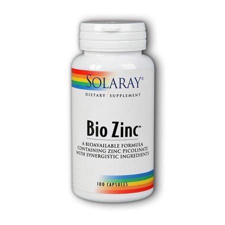 Solaray Bio Zinc цинк пиколинат, хеллат и цитрат 15 мг  + витамин B6 100 капсул