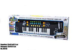 Синтезатор детский, черный, с множеством эффектов 8814A
