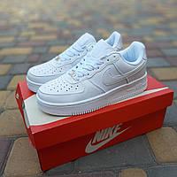 Женские кроссовки Nike Air Force 1 (белые) 20234